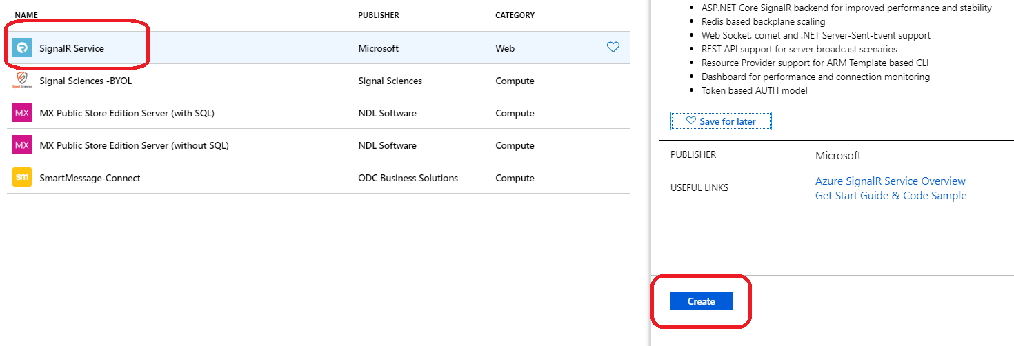 Creating a SignalR Service on Azure